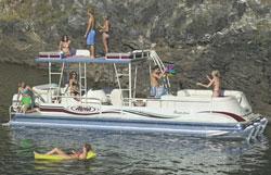 Pontoon boat fun on Norfork Lake