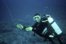 Scuba diver in Norfork Lake
